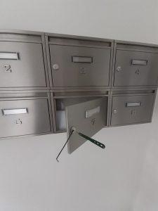Úplná ztráta klíčů od poštovní schránky. Otevření + nové klíče